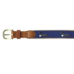 Loon Embroidered Belt