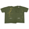 Great Blue Heron (with tracks) T-shirt