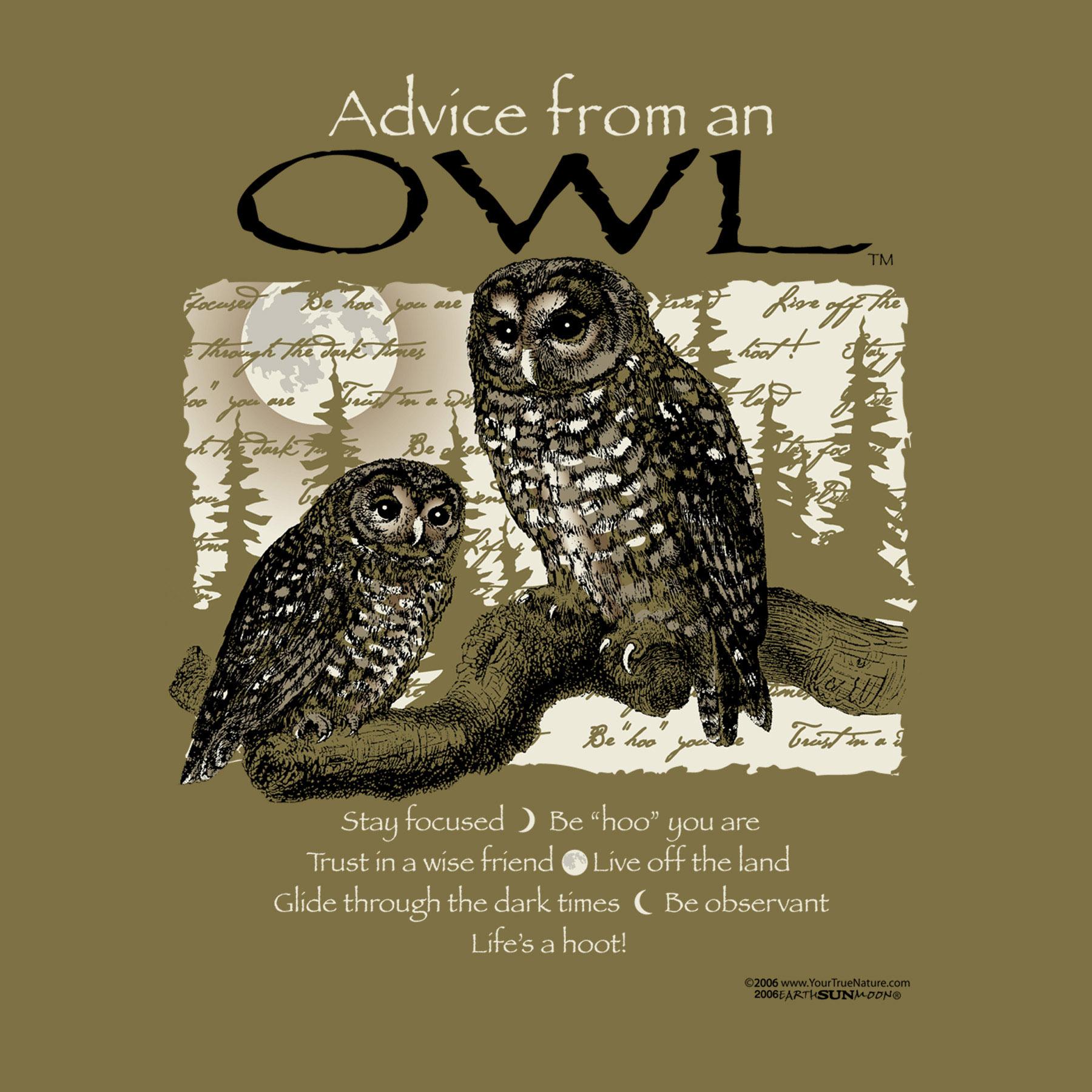 Advice from an Owl Tee