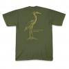 Great Blue Heron (with tracks) T-shirt (back)