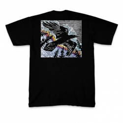 Raven (with tracks) T-shirt (front)